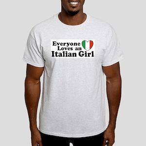 Everyone loves an italian girl Ash Grey T-Shirt