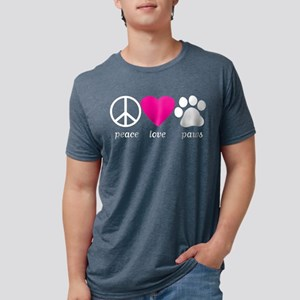Peace Love Paws Women's Dark T-Shirt