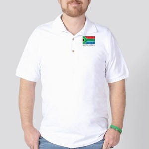 South Africa Flag Golf Shirt