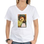Romantic Halloween Women's V-Neck T-Shirt