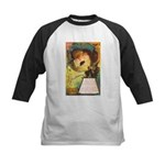 Romantic Halloween Kids Baseball Jersey