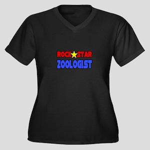 """Rock Star Zoologist"" Women's Plus Size V-Neck Dar"