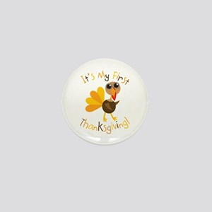 My First Thanksgiving Mini Button