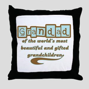 Grandad of Gifted Grandchildren Throw Pillow