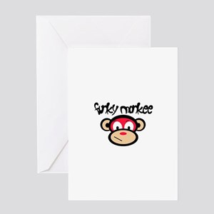 Funky Monkee Greeting Card
