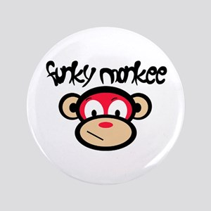 """Funky Monkee 3.5"""" Button"""
