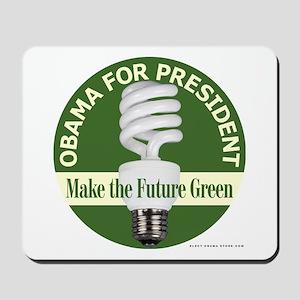 Barack Obama Green Bulb Mousepad