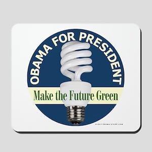 Barack Obama Blue Bulb Mousepad