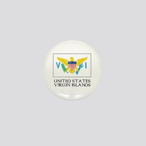 US Virgin Islands Flag Mini Button