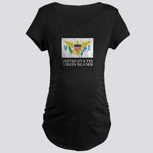 US Virgin Islands Flag Maternity Dark T-Shirt