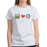 The Media Loves Barack Women's T-Shirt