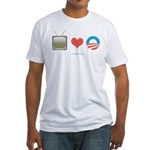 The Media Loves Barack Fitted T-Shirt