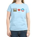 The Media Loves Barack Women's Light T-Shirt