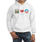 The Media Loves Barack Hooded Sweatshirt