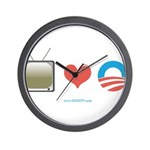 The Media Loves Barack Wall Clock