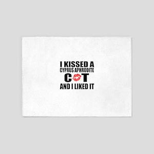 I Kissed Cyprus Aphrodite Cat 5'x7'Area Rug