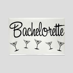 Black Multi Bachelorette Rectangle Magnet