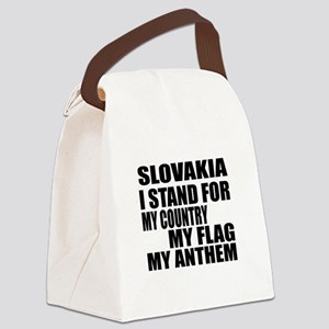 I Stand For Slovakia Canvas Lunch Bag