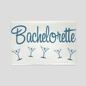 Blue Multi Bachelorette Rectangle Magnet