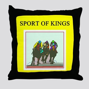thoroughbred racing horse Throw Pillow