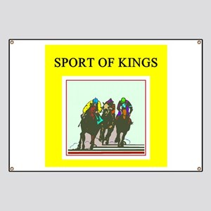 thoroughbred racing horse Banner