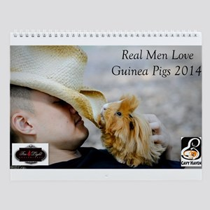 Real Men Love Guinea Pigs Wall Calendar