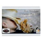 Real Men Love Guinea Pigs Wall Calendar