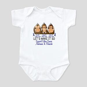See Speak Hear No Colon Cancer 2 Infant Bodysuit