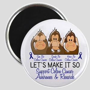 See Speak Hear No Colon Cancer 2 Magnet