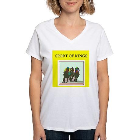 horse racing gifts t-shirts Women's V-Neck T-Shirt