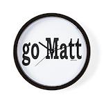 go Matt Wall Clock