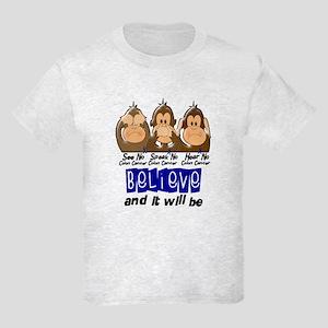 See Speak Hear No Colon Cancer 3 Kids Light T-Shir