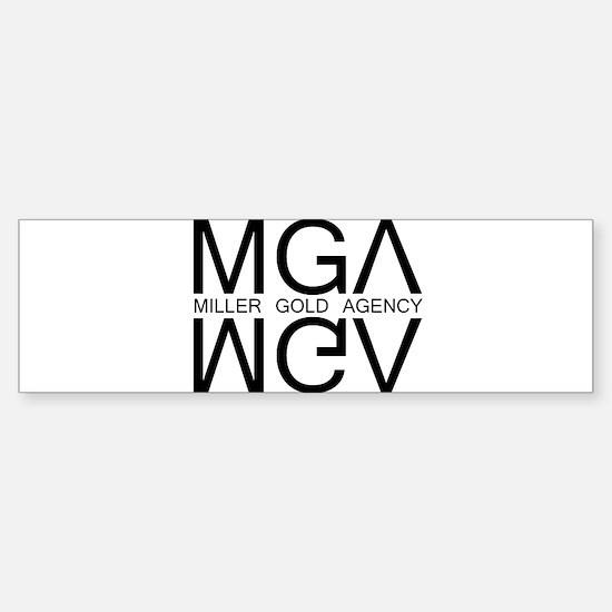 """Miller Gold Agency"" Bumper Bumper Bumper Sticker"