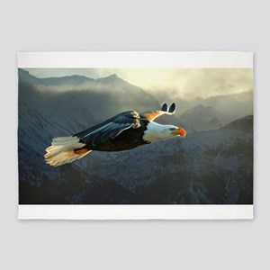 Flying Bald Eagle 5'x7'Area Rug