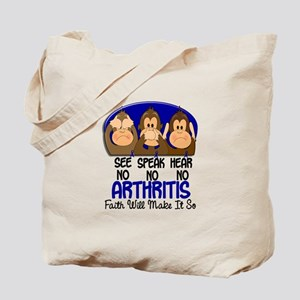 See Speak Hear No Arthritis 1 Tote Bag