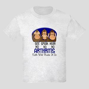 See Speak Hear No Arthritis 1 Kids Light T-Shirt
