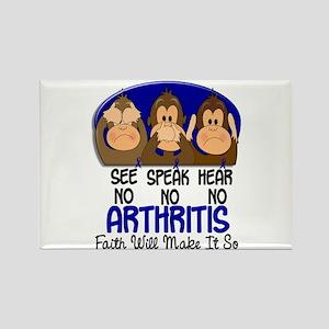 See Speak Hear No Arthritis 1 Rectangle Magnet