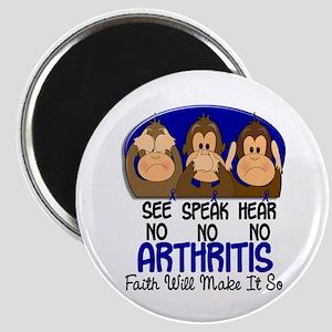 See Speak Hear No Arthritis 1 Magnet