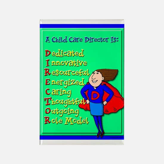 D.I.R.E.C.T.O.R. Child Care Director Rectangle Mag