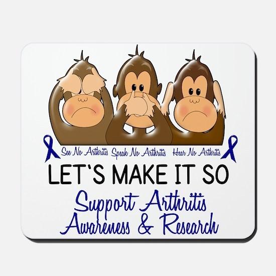 See Speak Hear No Arthritis 2 Mousepad