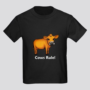 Cows Rule! Kids Dark T-Shirt