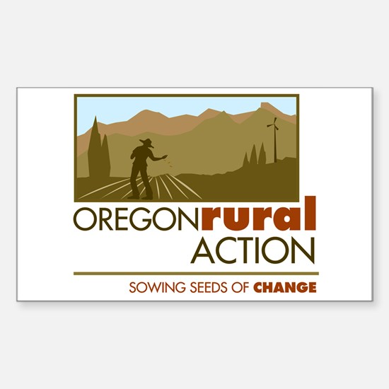 Oregon Rural Action Rectangle Decal