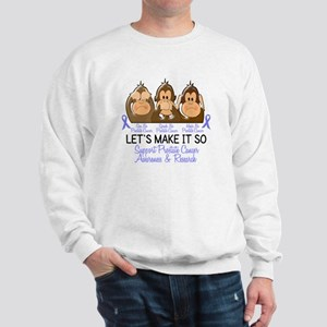 See Speak Hear No Prostate Cancer 2 Sweatshirt