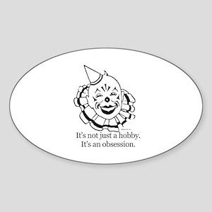 Clown hater ~ Oval Sticker