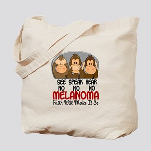See Speak Hear No Melanoma 1 Tote Bag
