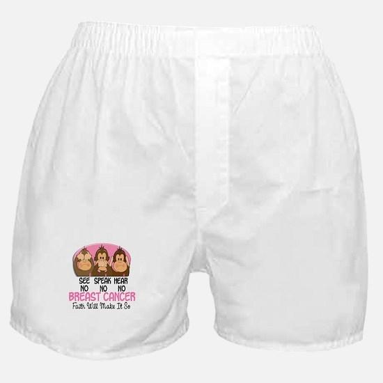 See Speak Hear No Breast Cancer 1 Boxer Shorts
