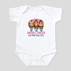 See Speak Hear No Breast Cancer 1 Infant Bodysuit