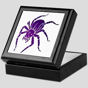 Purple Spider Keepsake Box