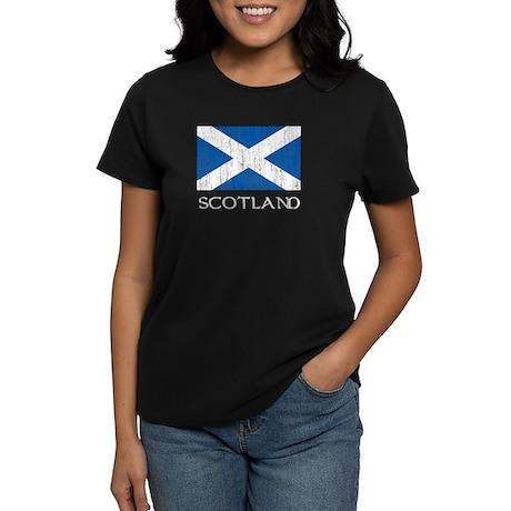 Scotland Flag Women's Dark T-Shirt