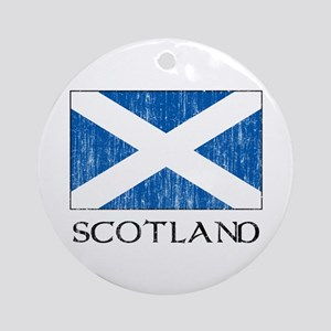 Scotland Flag Ornament (Round)